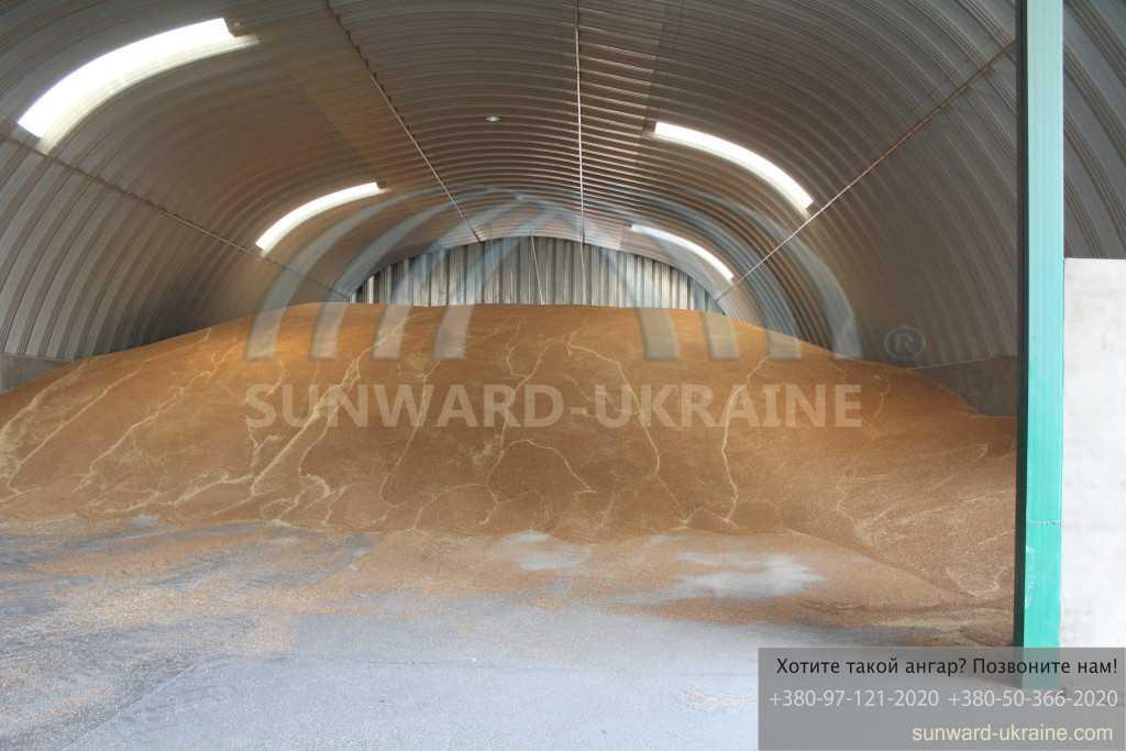 бескаркасный ангар для зерна фото ангара с зерном