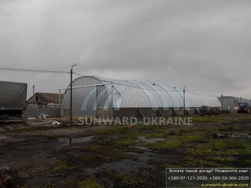 бескаркасный ангар для зерна в украине