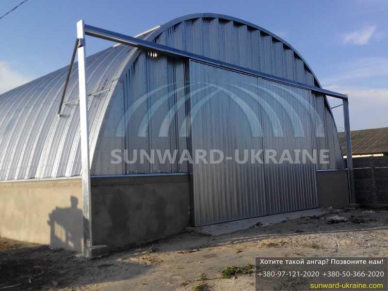 строительство бескаркасных ангаров в украине